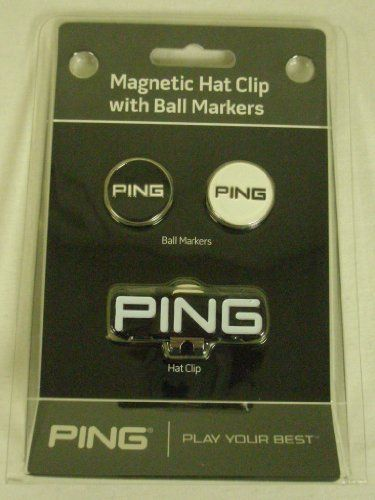 f8c63c88e1f481 Ping Magnetic Hat Clip (With 2 Ball Markers) Black & White Golf NEW ...