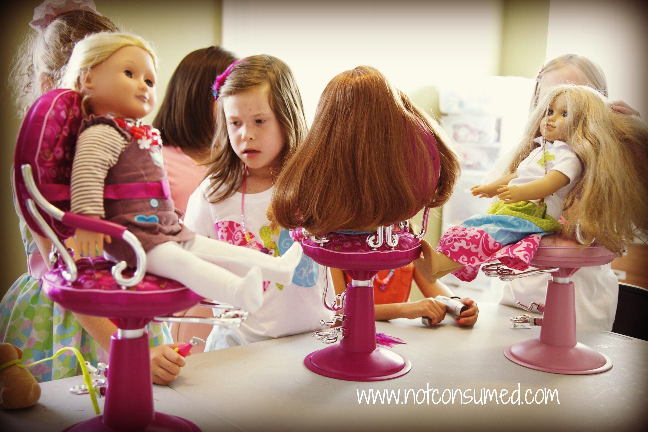 Doll Hair Salon American Girl Birthday American Girl Parties American Girl Birthday Party