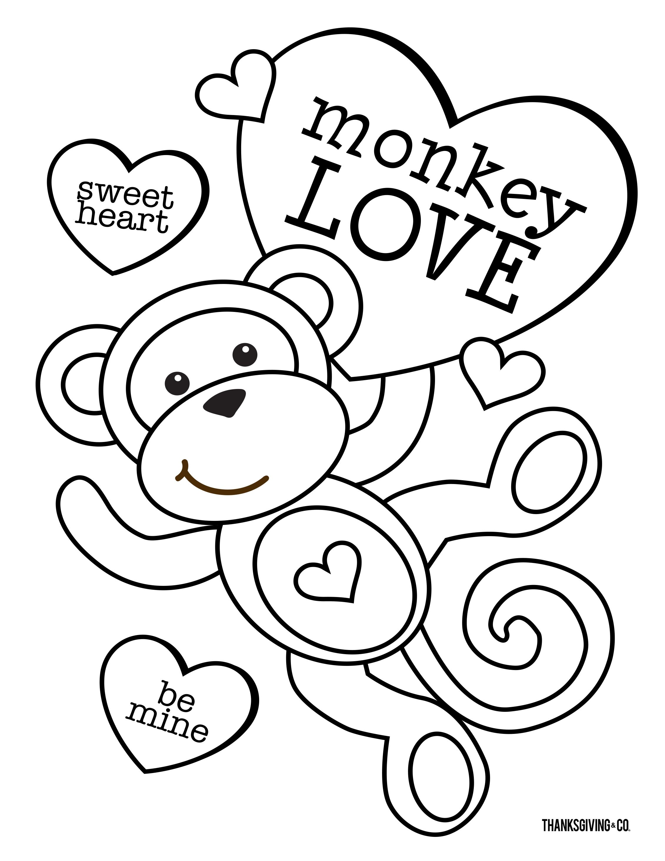 4 free Valentine's Day coloring pages for kids ...