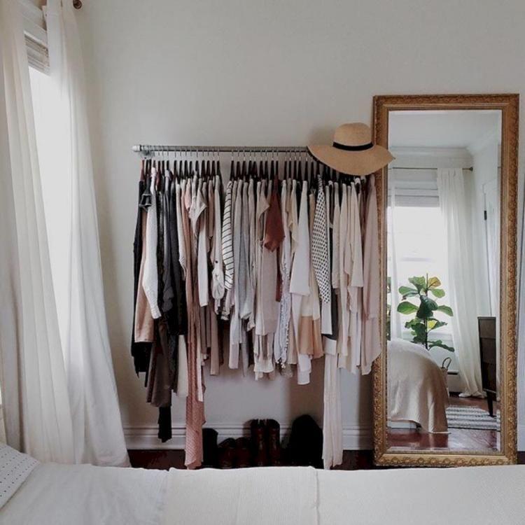 50 Admirable Bedroom Storage Ideas Makeshift Closet Apartment Decor Interior