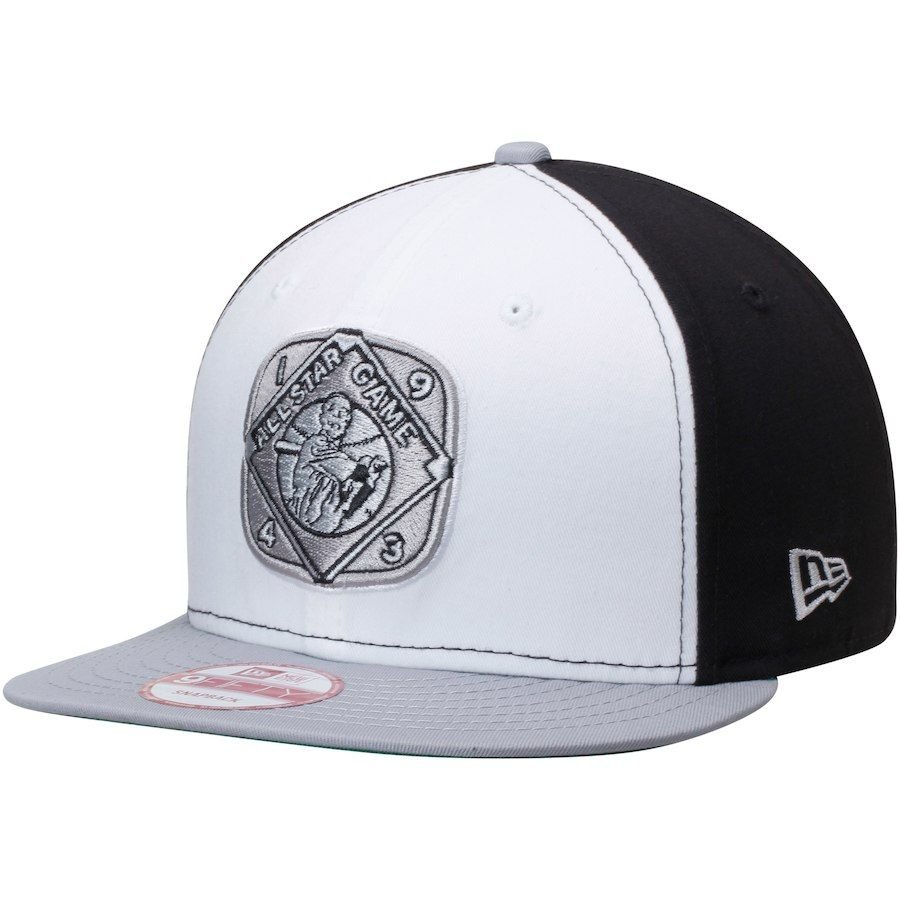 Men s New Era White Black 1943 All-Star Game Patch 9FIFTY Snapback  Adjustable Hat 838ad40dbdc