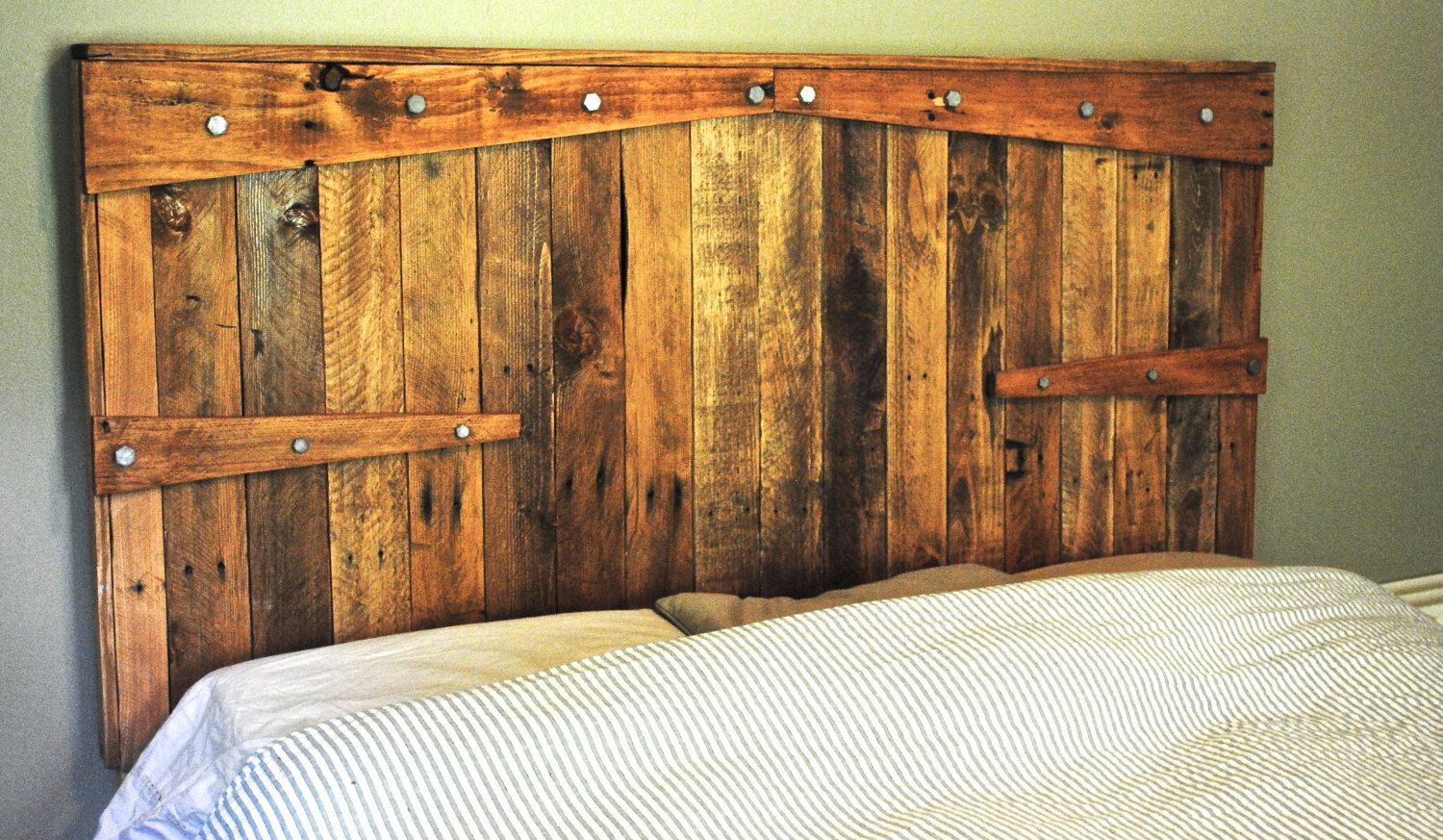 Rustic Headboard Reclaimed Wood With Non By