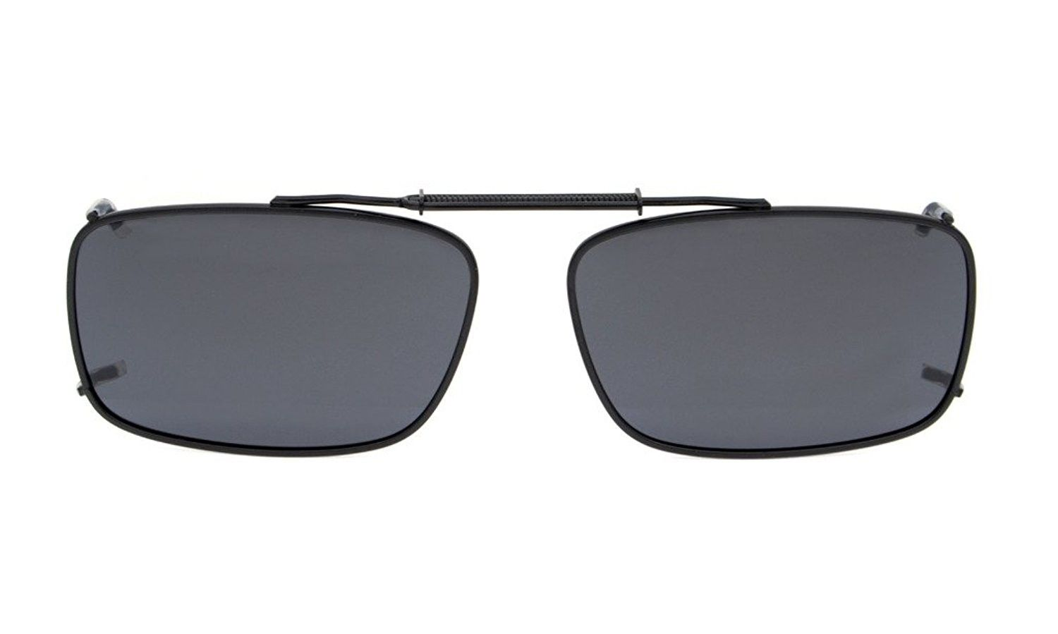 2ab689d0da Metal Frame Rim Polarized Lens Clip On Sunglasses 2 1 8