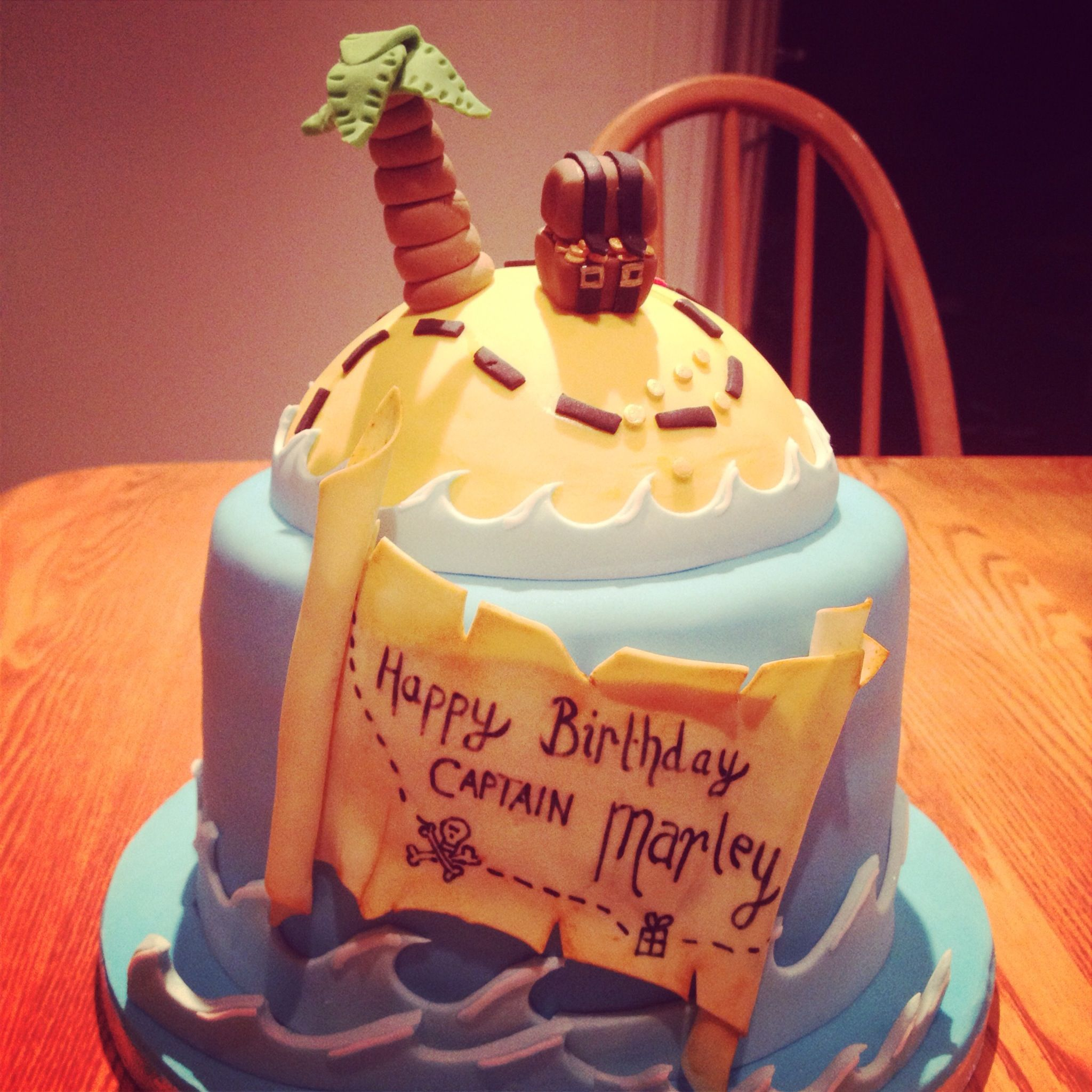 Pirate Cake With Treasure Chest And Map Birthday Part Ideas