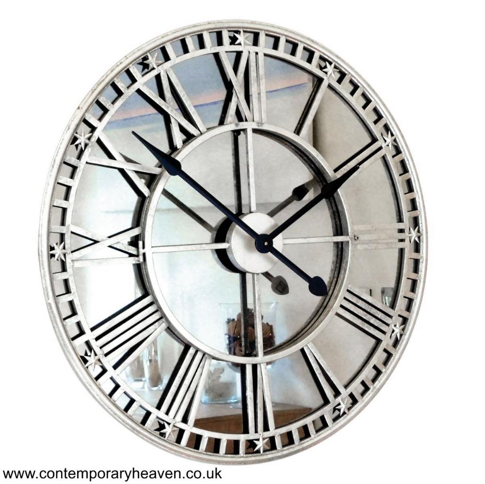 Buy Online Uk Antique Mirror Iron Roman Skeleton Wall Clock Usa Skeleton Wall Clock Mirror Wall Clock Contemporary Wall Clock