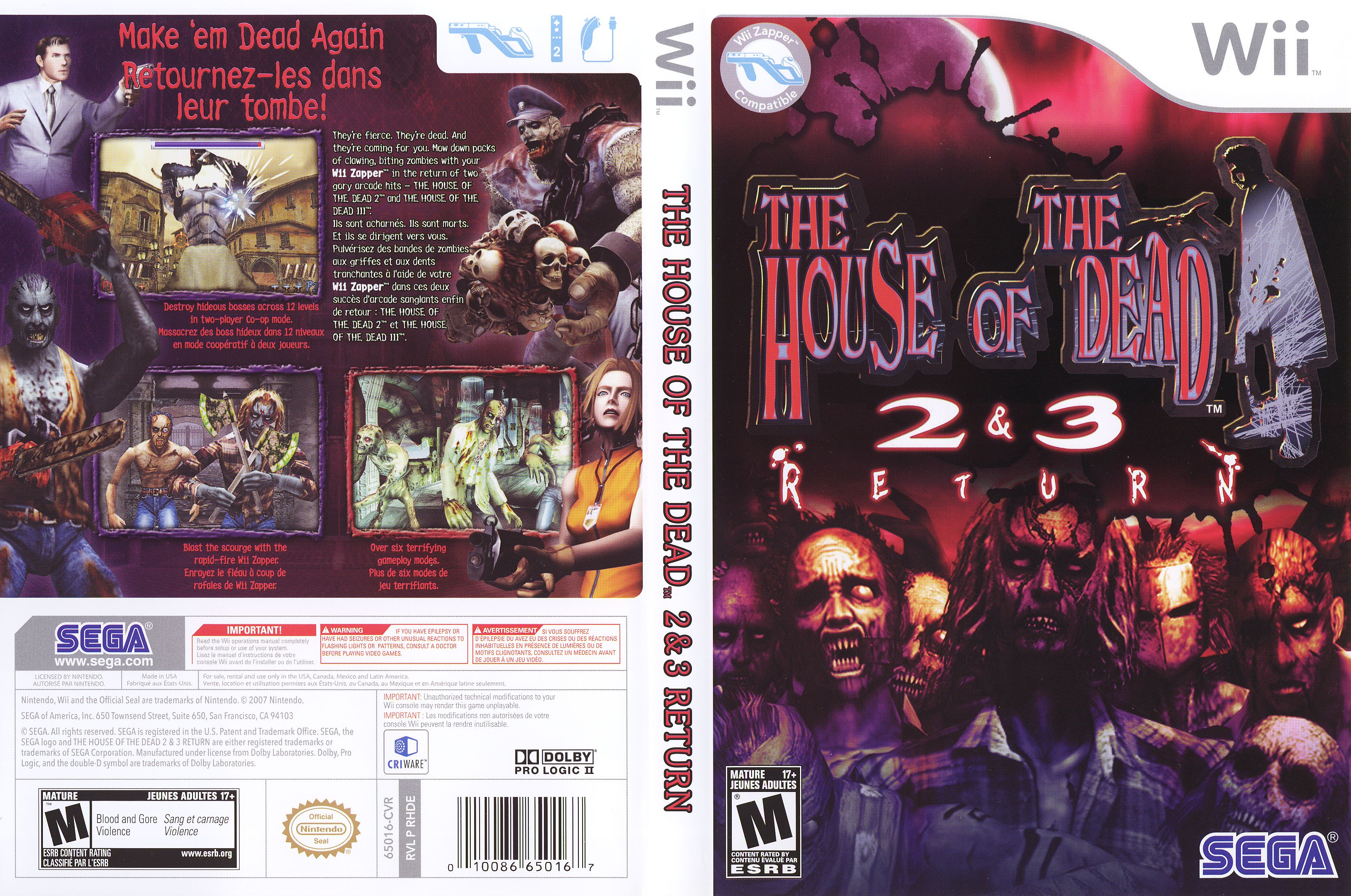 The House Of The Dead 2 3 Wii Games Wii Nintendo Wii