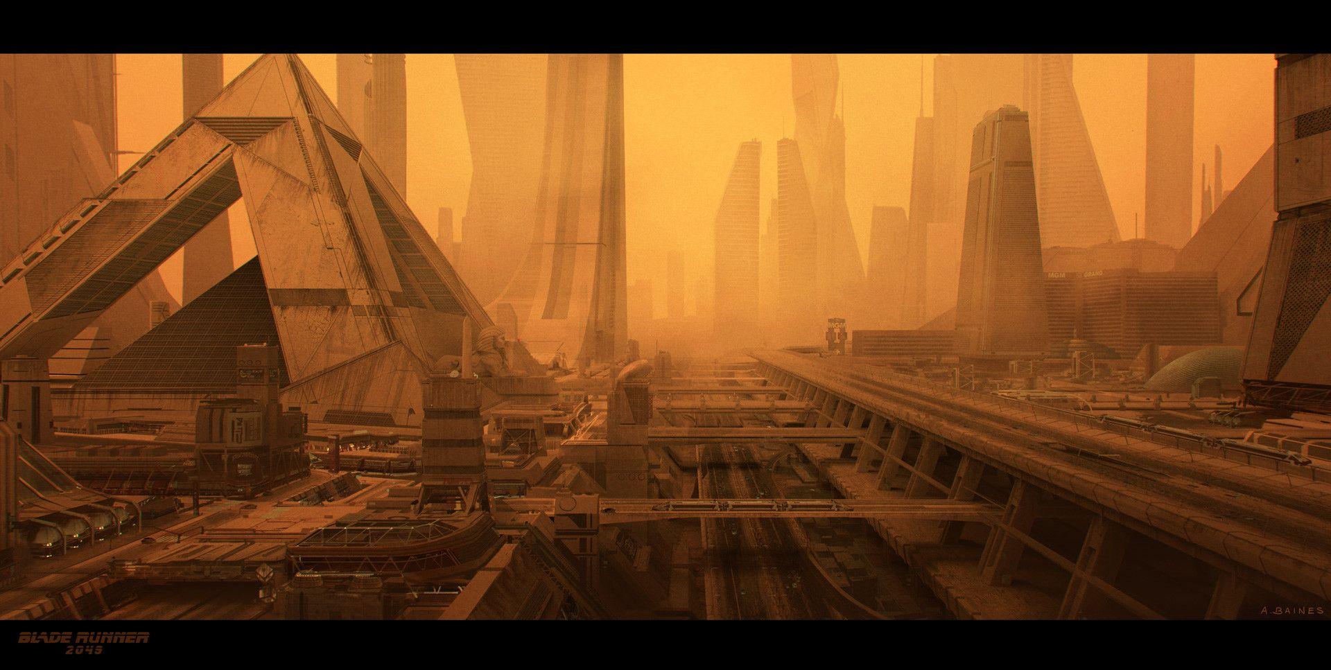 Artstation Blade Runner 2049 Vegas Adam Baines Concept Art World Blade Runner Blade Runner 2049