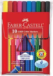 Faber Castell 10ct Grip Color Markers Faber Castell Marcadores Triangulares