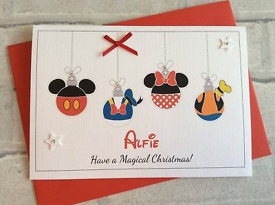 Personalised Disney Christmas Card