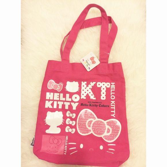 Hello Kitty Tote Bag Hello Kitty Colors Tote Bag 35th Anniversary Bags Totes e0e8f2d3a96b1