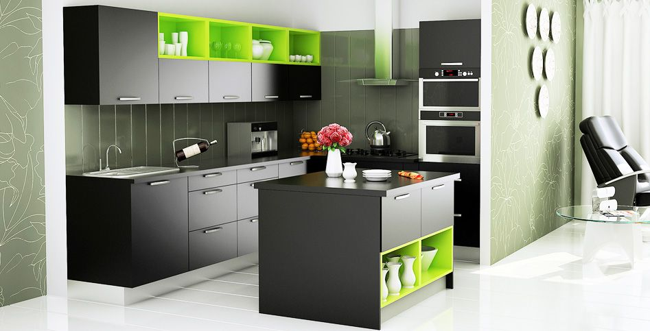 modular kitchen l shaped - Google Search | patterns | Pinterest ...