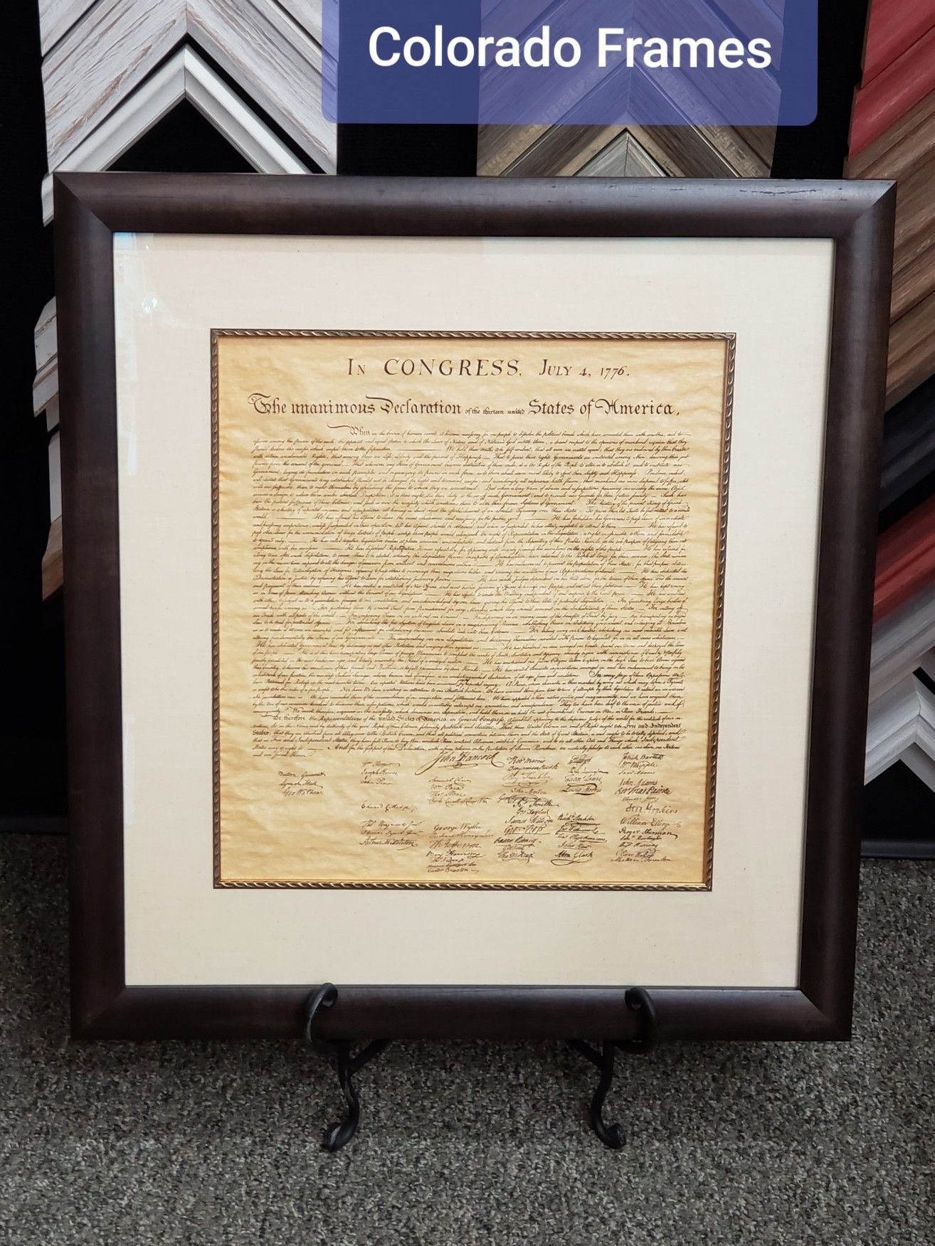 Custom framed with Framerica moulding Frame, Wholesale