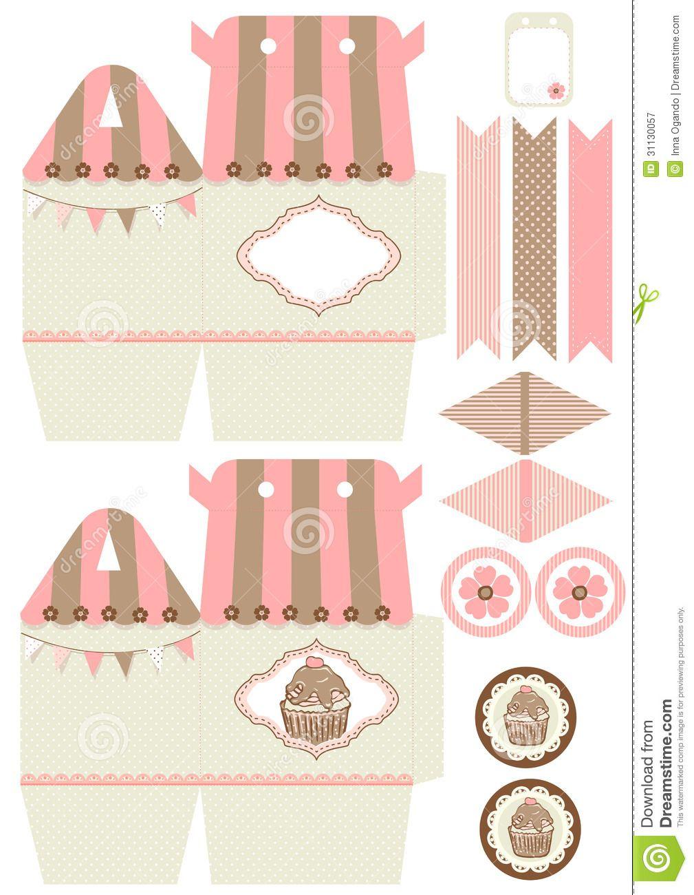 Printable Cupcake Box Template | Printables (ie. Art/Dinosaurs ...