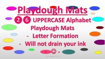 Uppercase Playdough Mats Letter Formation Templates