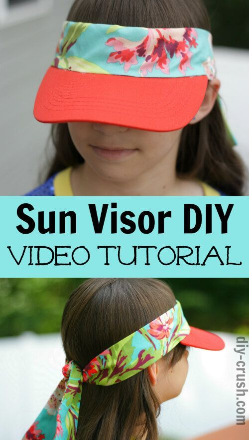 7cc5603250c Easy to make sun visor DIY. Watch the video!