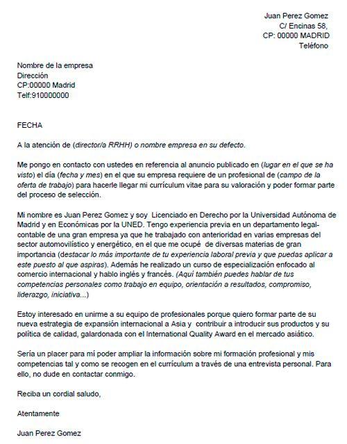 Carta De Presentacion Para Trabajo Buscar Con Google Carta De Presentacion Laboral Ejemplo De Carta De Presentación Carta De Presentación