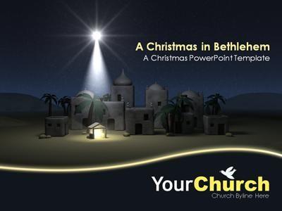 A Christmas in Bethlehem - A PowerPoint Template from K5 Don - christmas powerpoint template