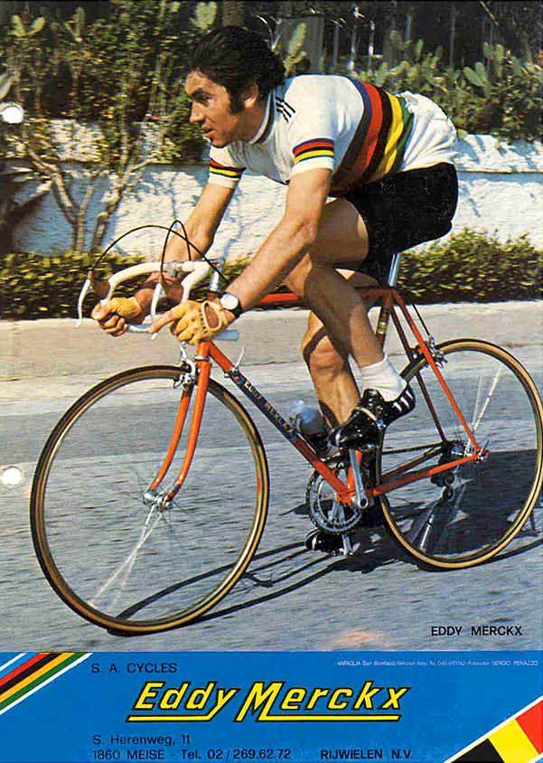 Merckx On The Bike Cycling Race Eddy Merckx Bike Road Bicycle Racing