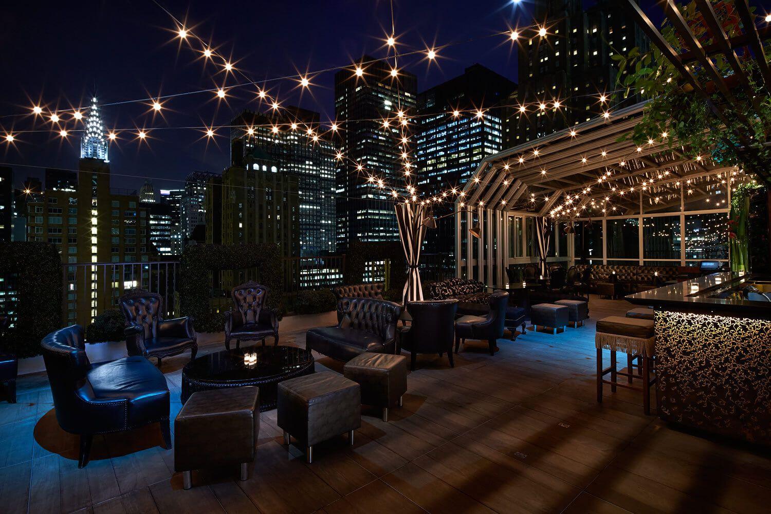 The Kimberly Hotel Nueva York Estados Unidos Bar Terraza