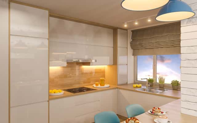 Kuchnia W Bloku Z Wielkiej Plyty Szukaj W Google Interior Design Kitchen Kitchen Interior White Kitchen Decor