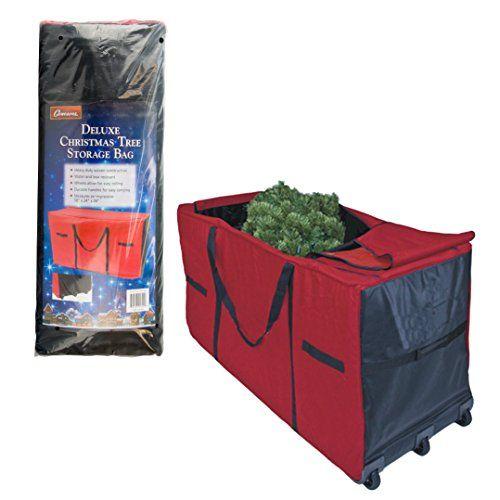 Christmas Tree Storage Bag Heavy Duty 58 X24 X34 Storage Container With Wheels Christmas Tree Storage Tree Storage Bag Christmas Tree Storage Bag