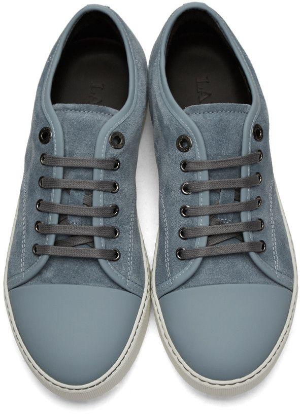 Lanvin - Blue Suede Tennis Sneakers