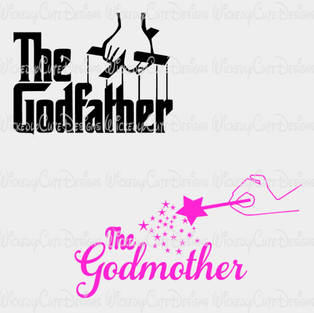 Godmother And Godfather Svg Dxf Eps Png Digital File The Godfather Godparent Gifts Godfather Image