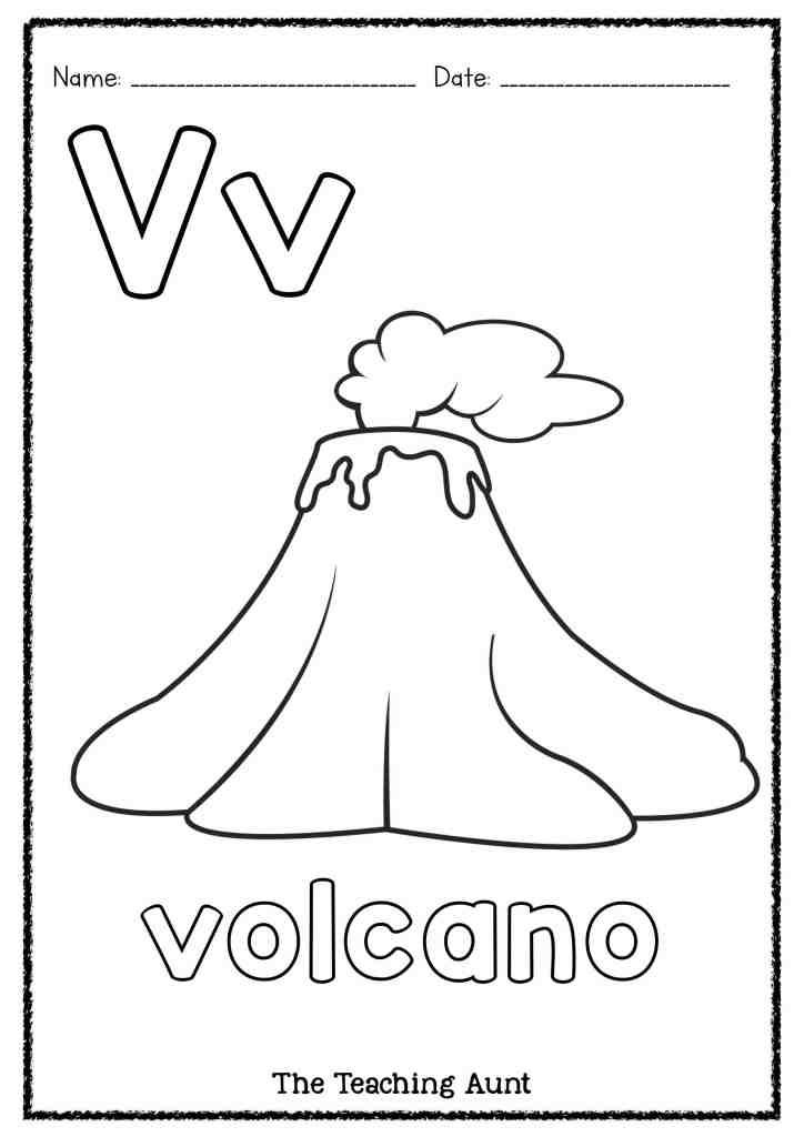 V is for Volcano Art and Craft - The Teaching Aunt