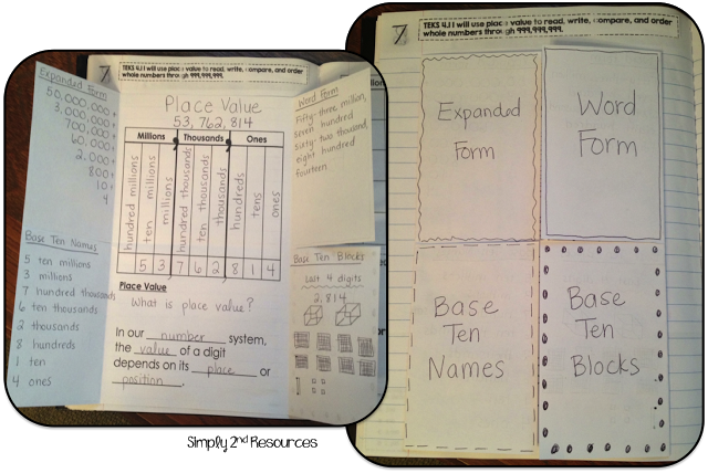 expanded form foldable  Place value, expanded form, word form foldable for math ...