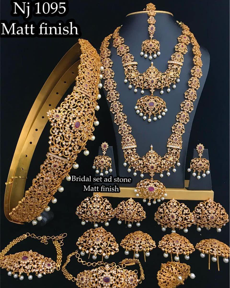 Mattefinish Wedding Jewelry Sets To Place Order Watsap Us On 8179399644 Hyderabaddiaries Indian Bridal Jewelry Sets Bridal Fashion Jewelry Indian Jewelry Sets