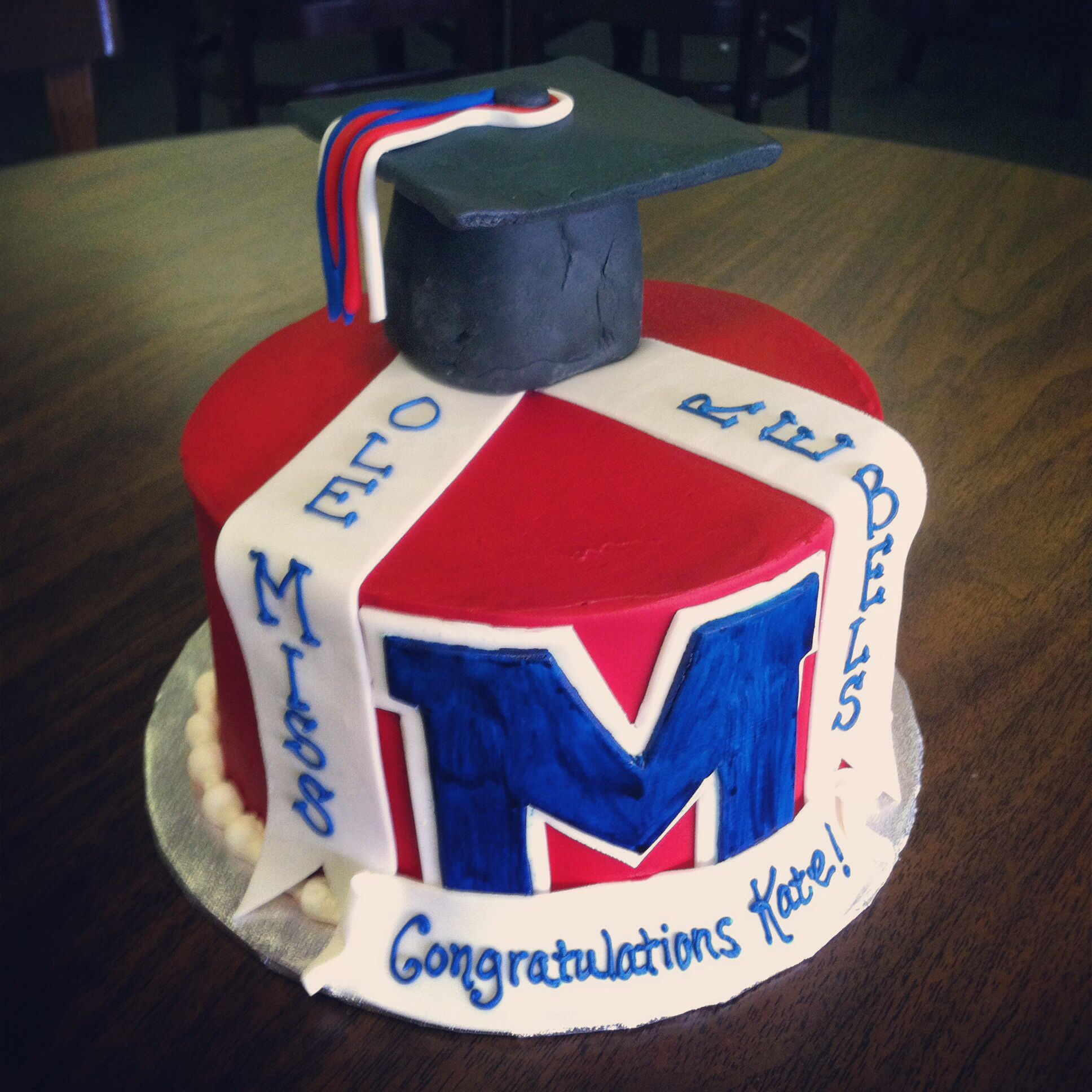Awe Inspiring Ole Miss Birthday Cake Veronicas Custom Bakery In Greenwood Ms Funny Birthday Cards Online Fluifree Goldxyz