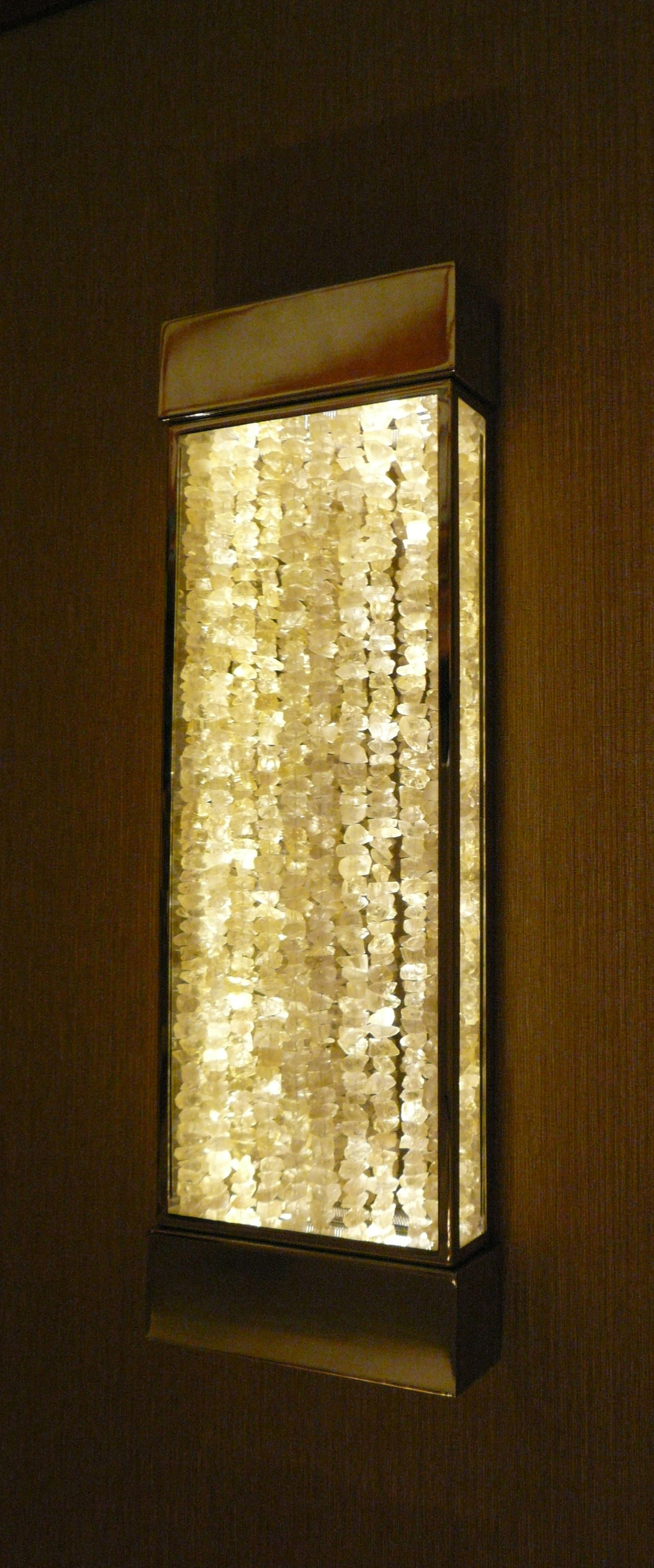 ADA Wall Sconce | Rough Cut Glass Beads | Plated Chrome | Glamour ...