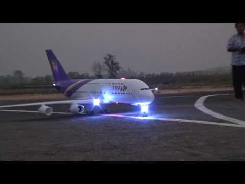 Rc Chiangrai Thailand A380 With Light Sign At Rimchorn Flying Club