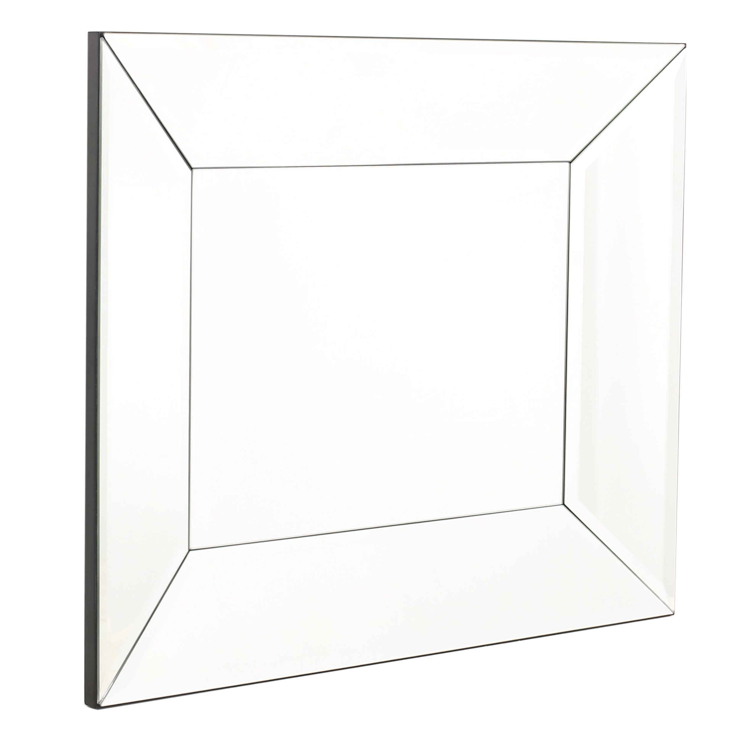 Opheli square wall mirror by christopher knight home silver black