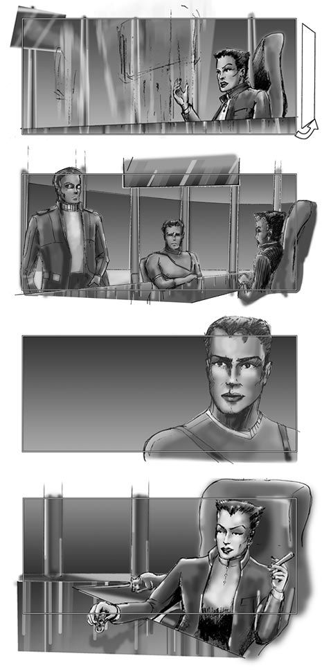 Storyboard Project Unnamed Feature Pilot  Lady Helena Office