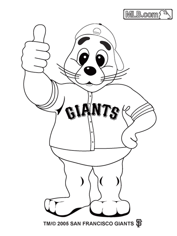 Giants Baseball Coloring Pages Coloring Pages | For kids ...