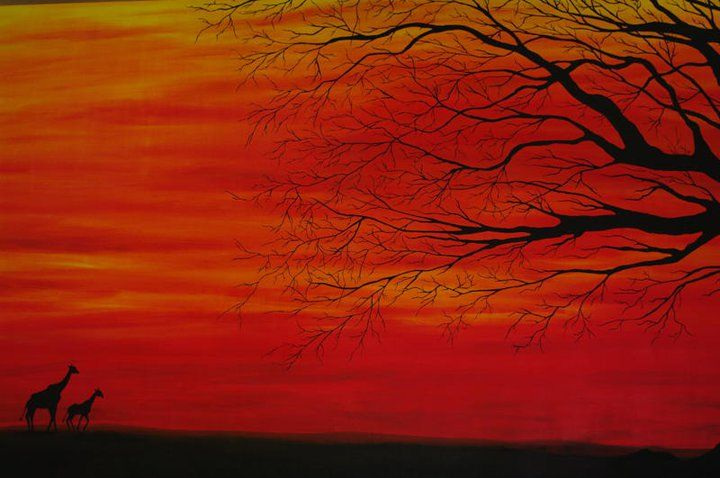 My African Savannah Painting 6ft X 4ft Artist Inspiration Abstract Artwork Painting