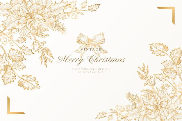 Vintage christmas background with golden nature   Free Vector #Freepik #vector #freebackground #freeframe #freechristmas #freechristmas-tree #christmasbackgrounds
