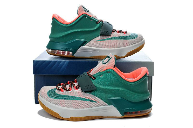 online store e82a4 e7e31 Youth Big Boys KD 7 Easy Money Mystic Green Light Brown 653996 330