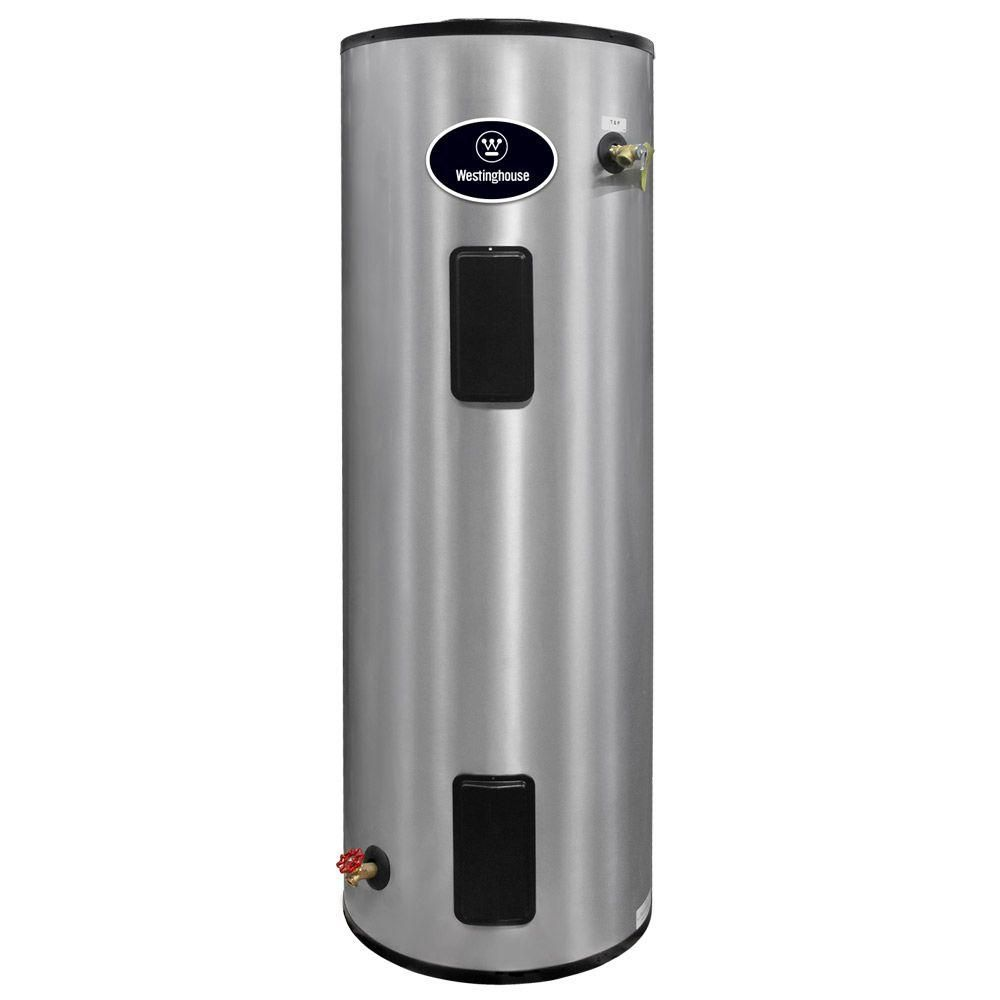 Westinghouse 52 Gal 4500 Watt 9 Year Residential Electric Water Heaters Heater With Durable 316l Stainless Steel Tank Wer052c2x045n09 The Home Depot