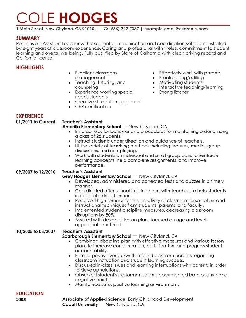Tips on How to Build a Good Preschool Teacher Resume (With
