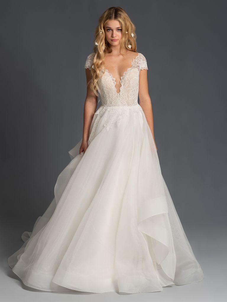 See Blush By Hayley Paige Wedding Dresses From Bridal Fashion Week Glitter Wedding Dress Affordable Wedding Dresses Spring Wedding Dress [ 1024 x 768 Pixel ]