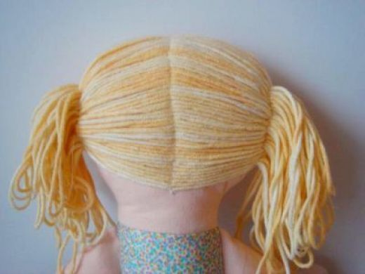 make rag dolls hair