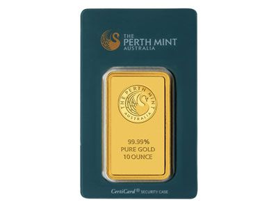 Perth Mint Ten Ounce Gold Bar Gold Bullion Bars Mint Gold Gold Bullion