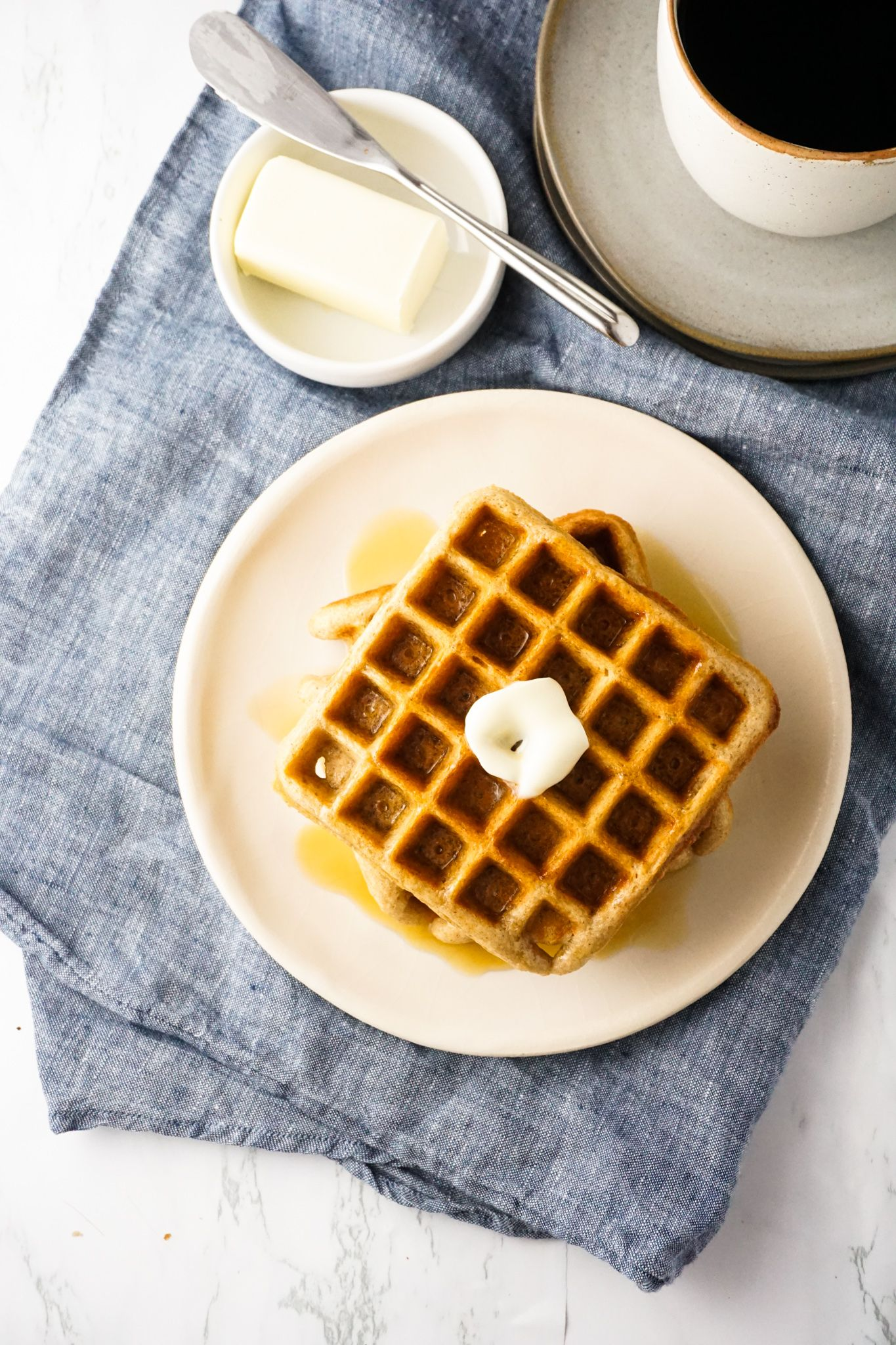 Classic Whole Wheat Buttermilk Waffles Hungry Haley In 2020 Buttermilk Waffles Waffles Baking Science
