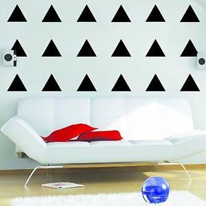 Triangle wall decals, Little peaks wall pattern, Geometric Wall Decals