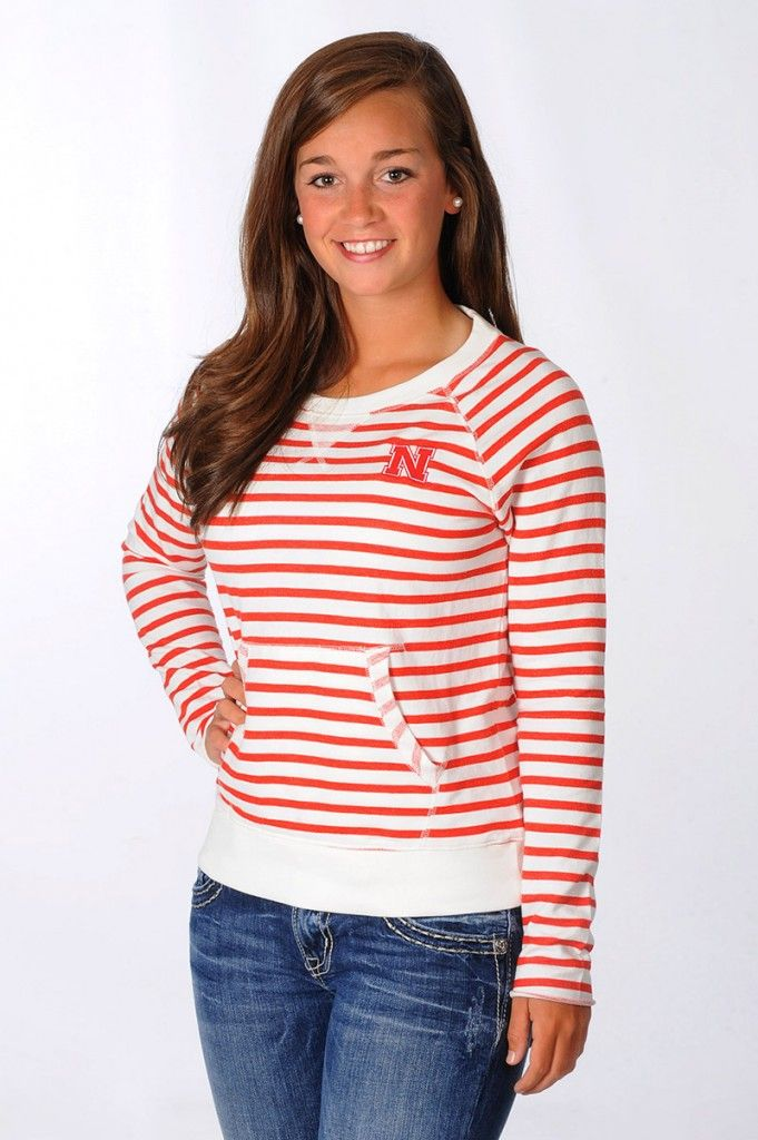 Almost sold out!! Nebraska Huskers Striped Pullover - University ...