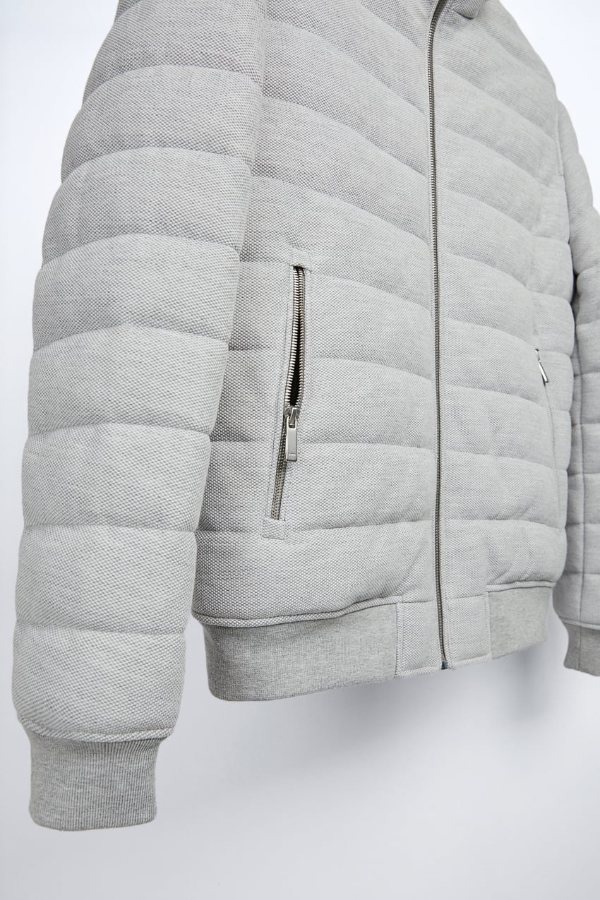 Textured Puffer Jacket Zara India Quilted Jacket Jackets Quilted [ 1275 x 850 Pixel ]