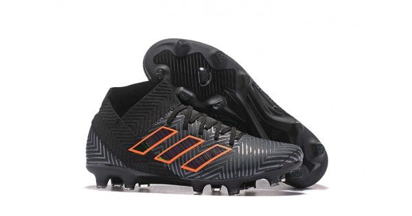 sports shoes 8f053 02d91 Negro naranja 2018 Adidas Nemeziz 18.1 FG Botas de futbol