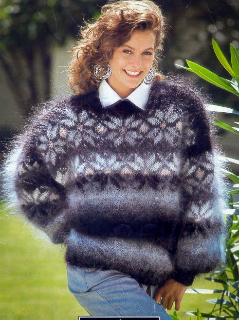 Pretty sure this is Hayfield, really a fuzzy mohair here ...